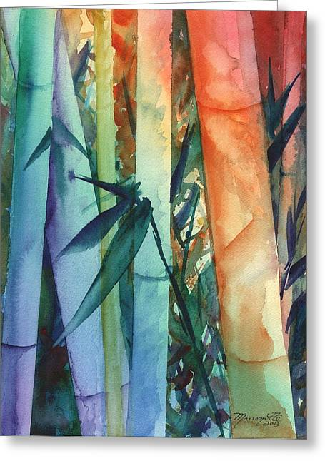 Rainbow Bamboo 2 Greeting Card by Marionette Taboniar