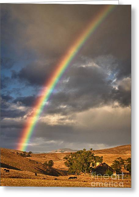 Rainbow Barn Greeting Card