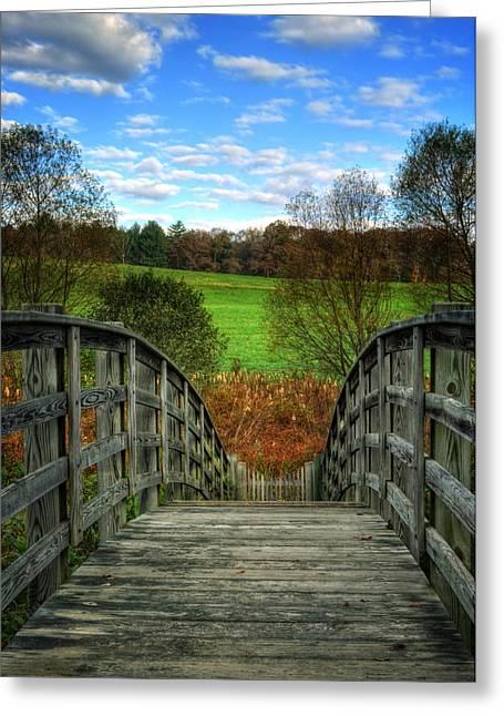 Rainbow Bridge Brasstown Nc Greeting Card