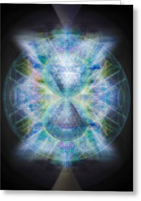 Rainbow Chalice Cell Isphere Matrix II Greeting Card