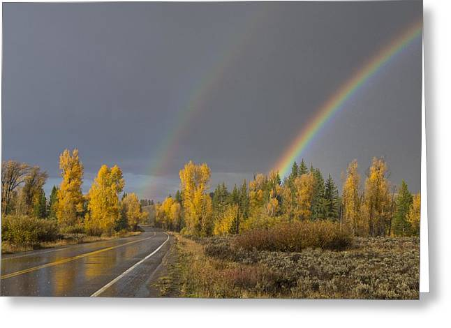 Rainbow Greeting Card by Christian Heeb