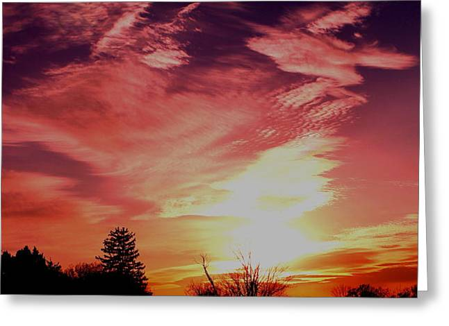 Greeting Card featuring the photograph Rainbow Clouds by Candice Trimble
