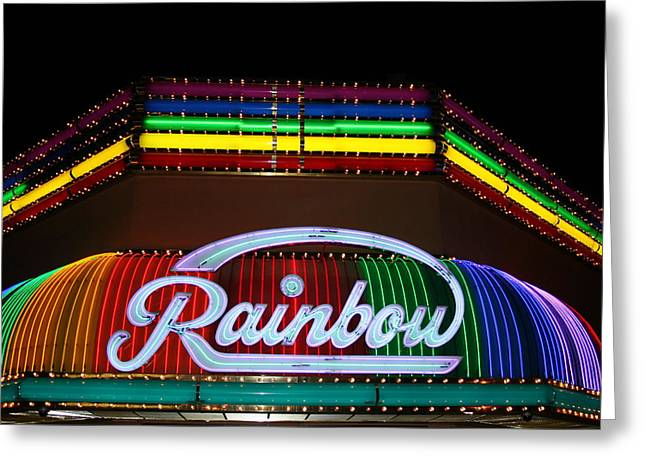 Rainbow Club Neon Greeting Card