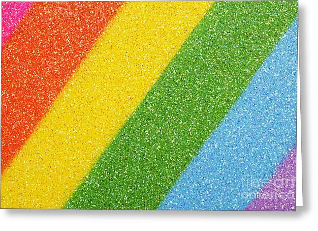 Rainbow Colors On Top Of A Box Greeting Card