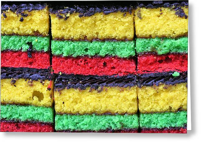 Rainbow Cookies Greeting Card by JC Findley