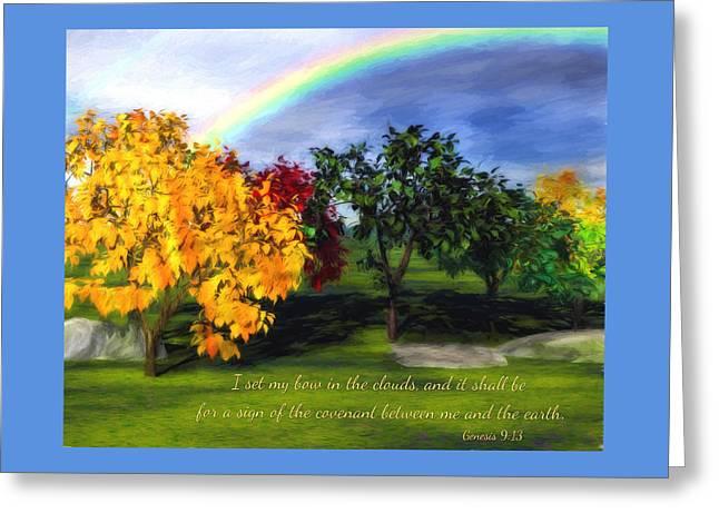 Rainbow Covenant Genesis Greeting Card