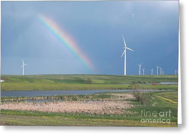 Rainbow Delight Greeting Card by Angela Pelfrey