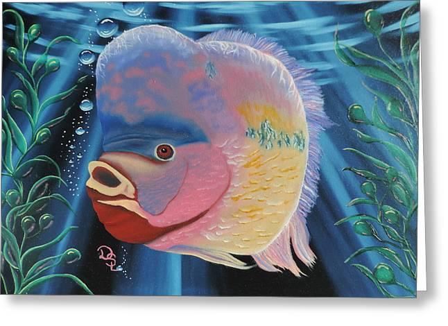 Rainbow Devil Fish Greeting Card
