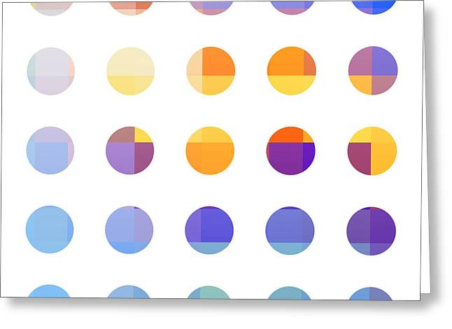 Rainbow Dots  Greeting Card by Pixel Chimp