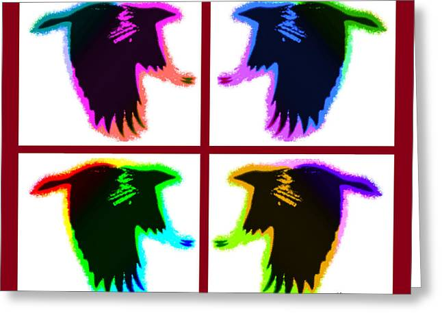 Rainbow Eagles Greeting Card by Bruce Nutting