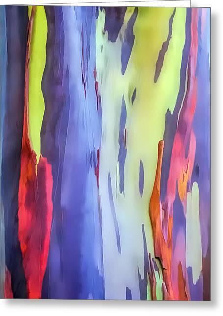 Rainbow Eucalyptus 2 Greeting Card by Dawn Eshelman