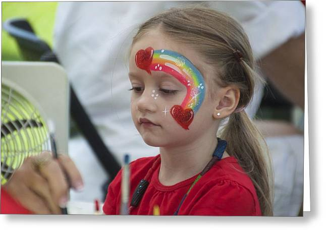 Rainbow Face Painting Greeting Card