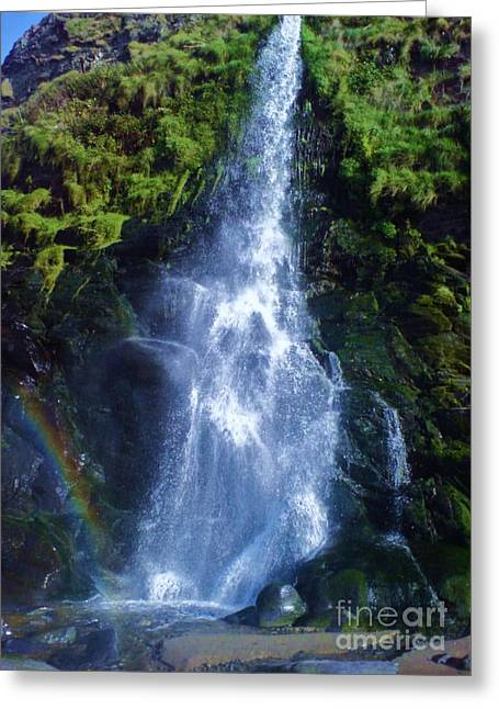 Greeting Card featuring the photograph Rainbow Falls by John Williams