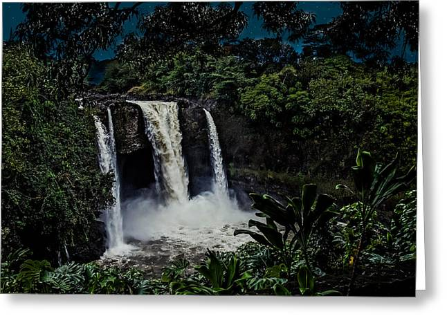Rainbow Falls Greeting Card by Randy Sylvia