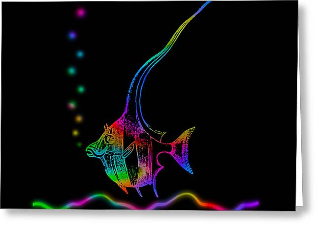 Rainbow Fish - Chaetodon Besantii Greeting Card by David Blank