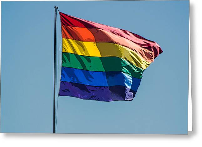 Rainbow Flag Greeting Card by Photographic Art by Russel Ray Photos