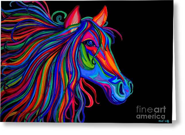 Rainbow Horse Head Greeting Card
