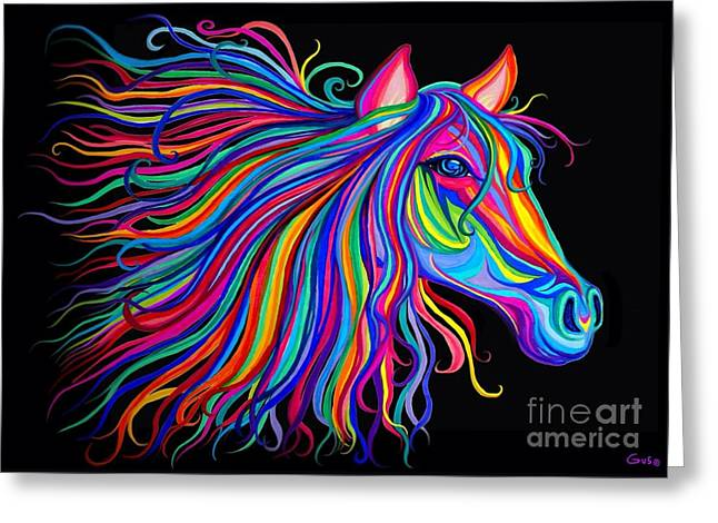 Rainbow Horse Too Greeting Card by Nick Gustafson