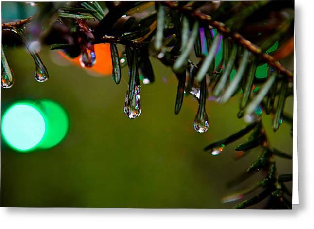 Rainbow Ice Drops Greeting Card by Mela Luna