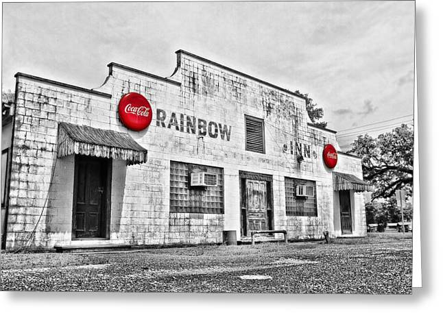 Rainbow Inn Greeting Card by Scott Pellegrin