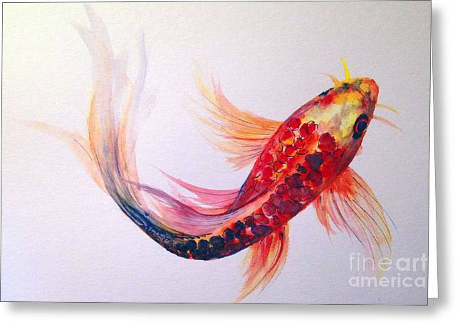 Rainbow Koi Greeting Card