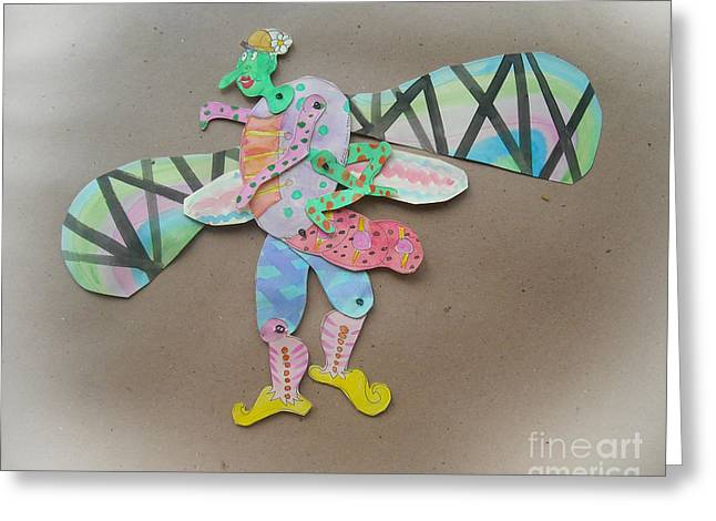 Rainbow Lady Bug 2003 Greeting Card by Carly Lenain