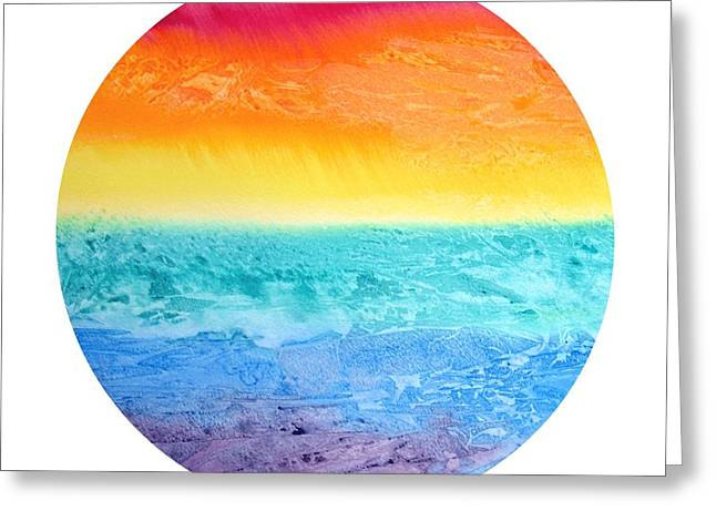 Rainbow Landscape  Greeting Card by Susan  Dimitrakopoulos
