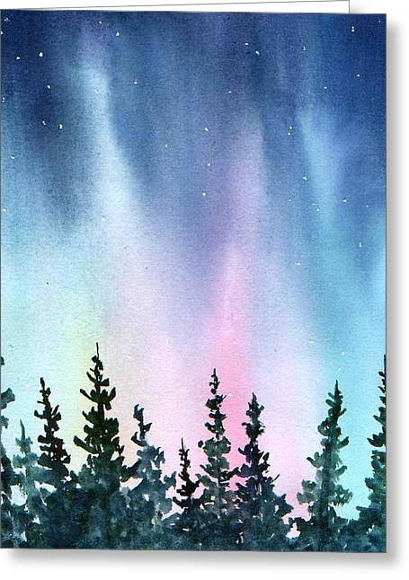 Rainbow Night Greeting Card