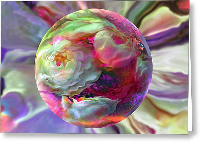 Rainbow Of Roses Greeting Card by Robin Moline