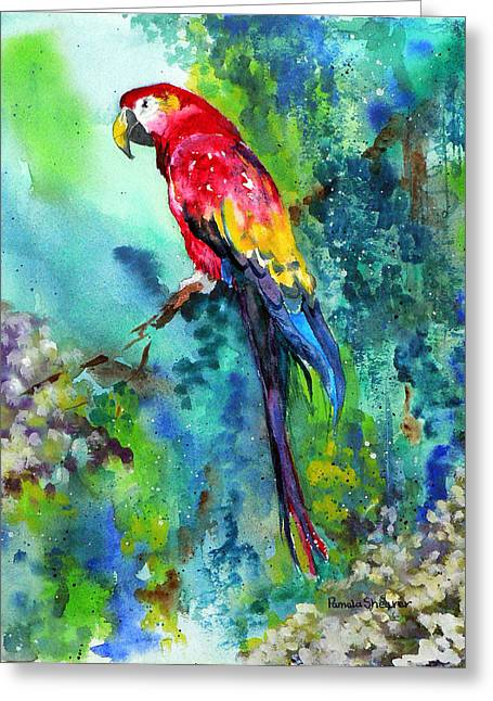 Rainbow On The Fly Greeting Card
