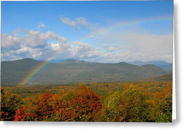 Rainbow Over Bartlett Nh Greeting Card by Ken Stampfer
