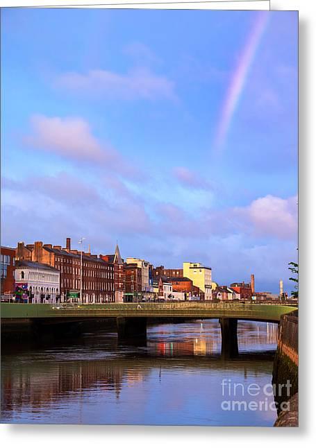 Rainbow Over Cork Greeting Card