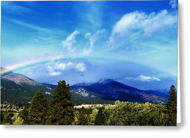 Rainbow Over Hamilton Montana Greeting Card