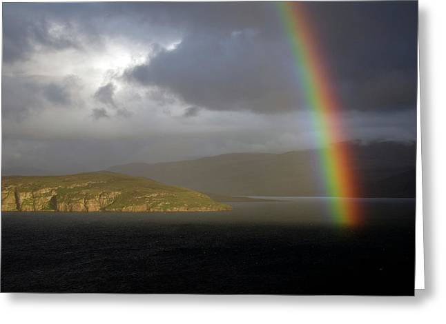 Rainbow Over Loch Broom Greeting Card