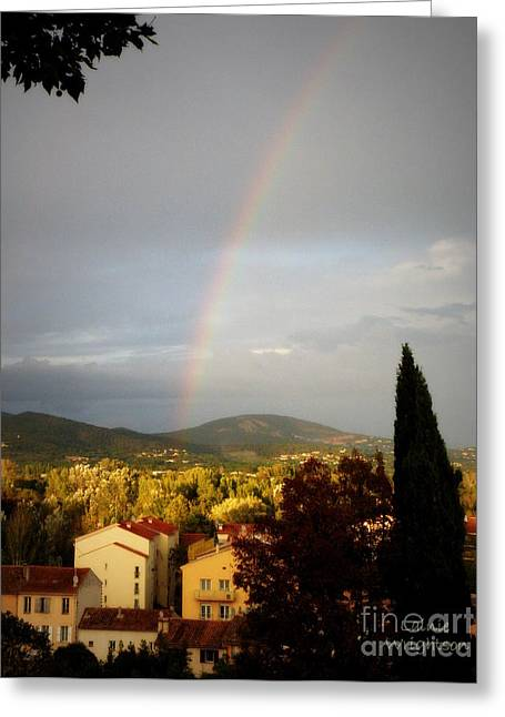 Rainbow Over Provence Greeting Card by Lainie Wrightson