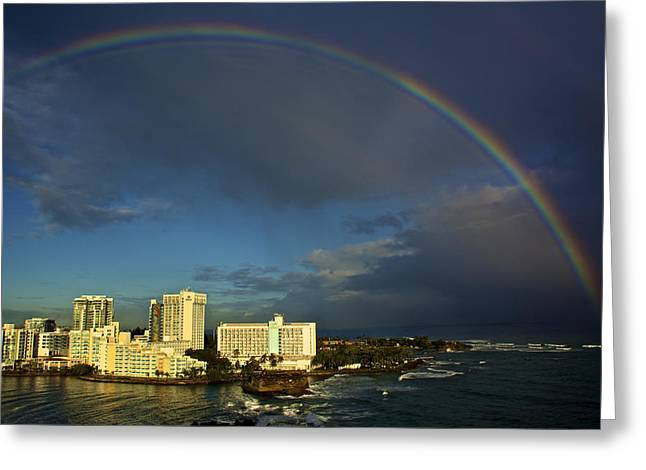 Rainbow Over San Juan Greeting Card
