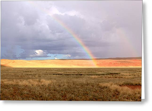 Rainbow Over Sossulvei Greeting Card