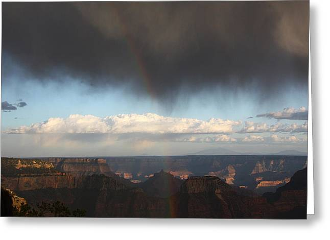 Rainbow Over The Grand Canyon Greeting Card