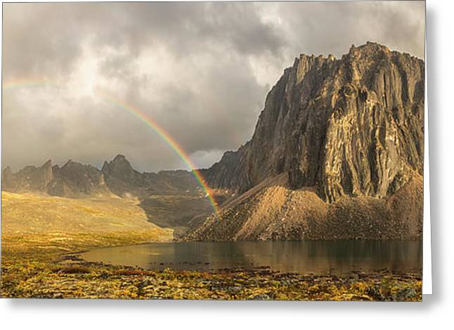 Rainbow Over Unnamed Mountain By Talus Greeting Card