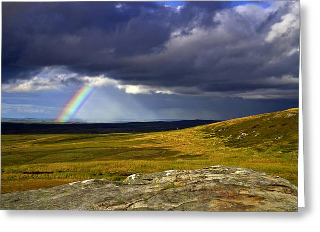 Rainbow Over Yorkshire Moors - Tann Hill Greeting Card