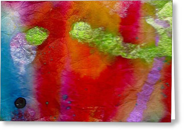 Rainbow Passion Greeting Card by Angela L Walker