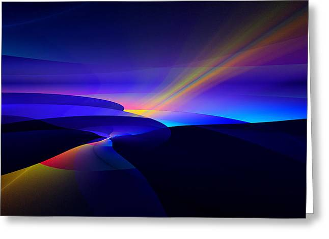 Rainbow Pathway Greeting Card by GJ Blackman