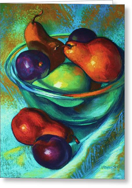 Rainbow Pears Greeting Card
