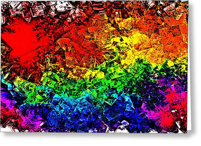 Rainbow Pieces Greeting Card by Bartz Johnson