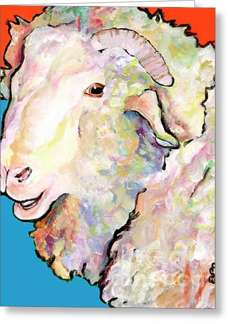 Rainbow Ram Greeting Card