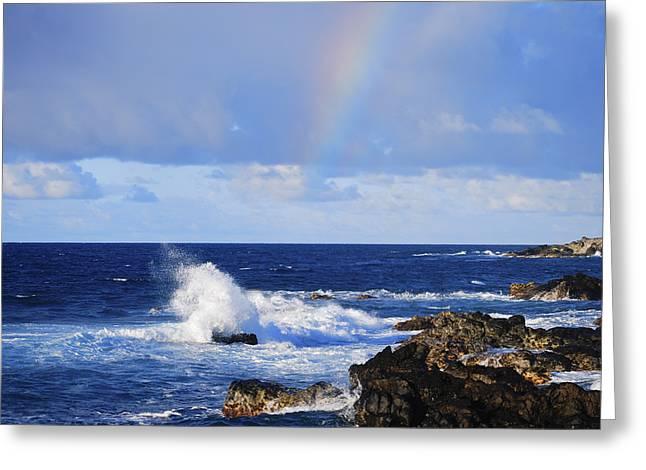Rainbow Spots Greeting Cards - Rainbow Snippet Greeting Card by Christi Kraft