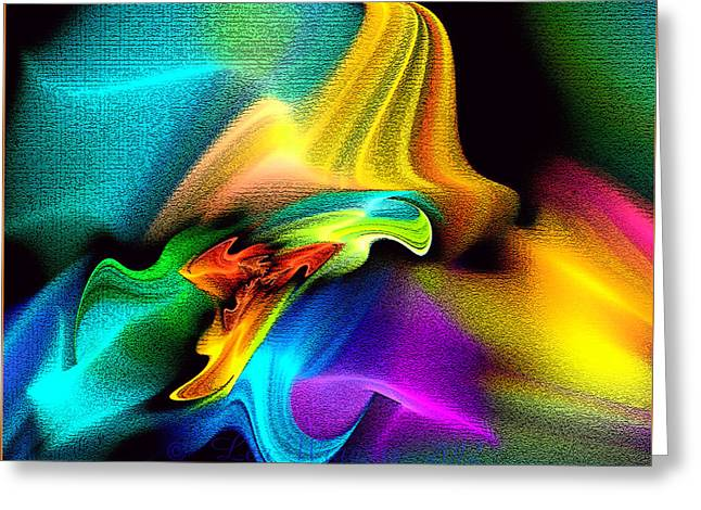 Rainbow Splashes Greeting Card
