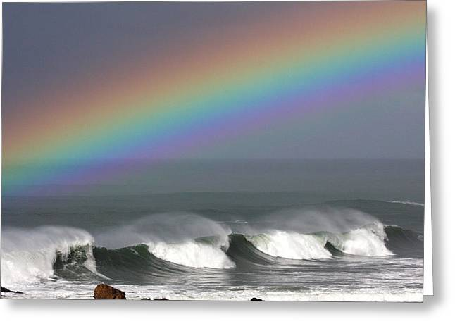 Rainbow Storm Greeting Card by Ru Tover