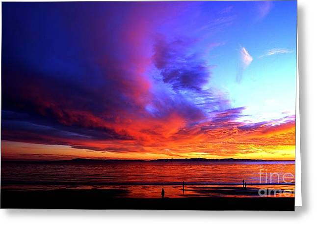 Greeting Card featuring the photograph Rainbow Sunset by Sue Halstenberg