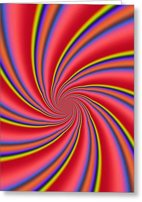 Rainbow Swirls Greeting Card by Paul Sale Vern Hoffman